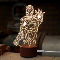 [US Deals]WOM-HOPE® LED Art Sculpture Lights Up Night Lights Desk Lamp - Iron Man